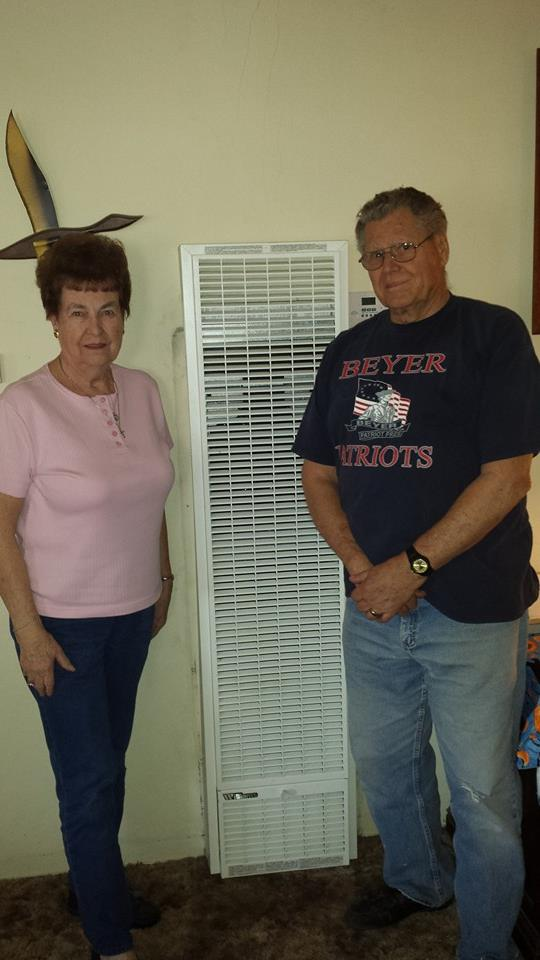Another happy customer with there new wall furnace heating system!